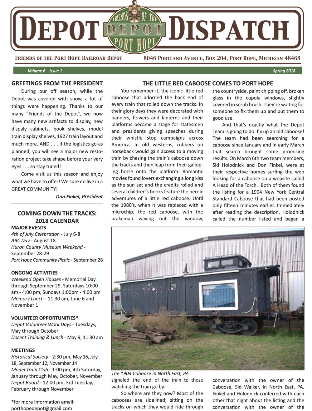 Read the Depot Dispatch