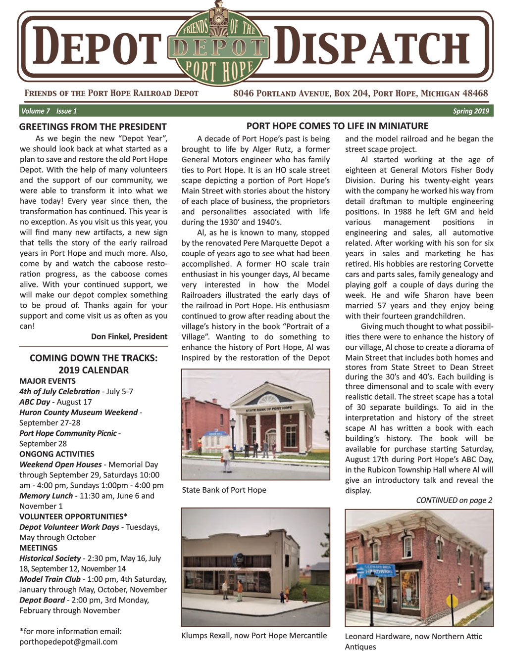 Read the Port Hope Depot Dispatch