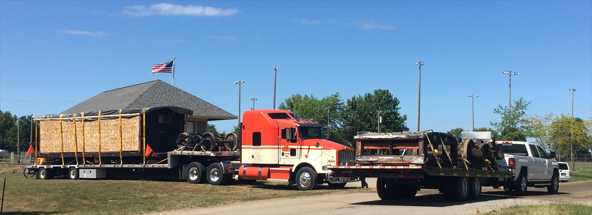 The caboose has arrived in Port Hope!
