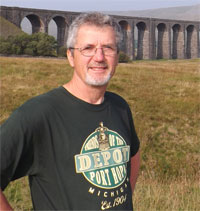 Colin at Ribblehead Viaduct Yorkshire.